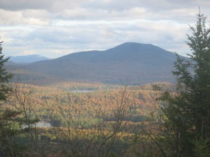 Northern Adirondacks seen atop Owls Head Mountain Firetower