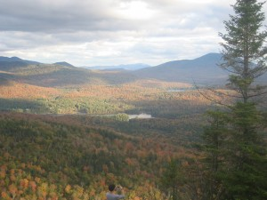 Fall foliage seen from Owls Head Firetower