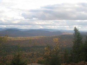Panoramic vista from Firetower atop Owls Head Mountian