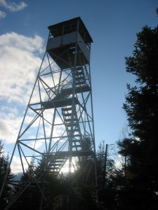 Firetower atop Owls Head Mountain