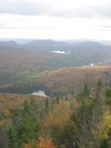 Northern Adirondacks in full fall foliage
