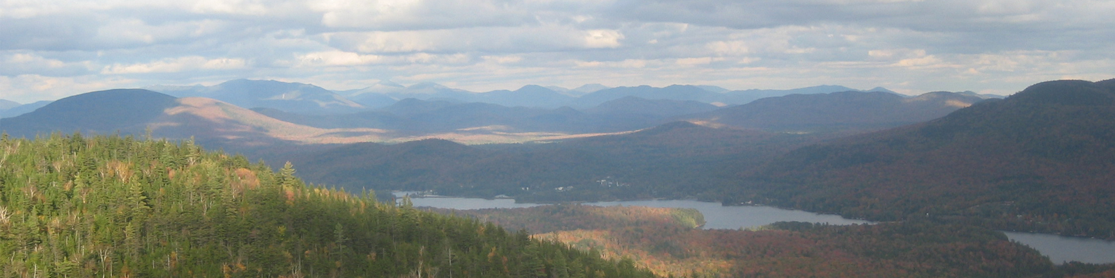 Panoramic view of Adirondacks during the fall