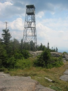 Firetower atop Saint Regis Mountain