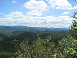 View of Central Adirondacks atop Peaked Mountain