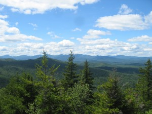 Blues skies and clouds over the Central Adirondack Region