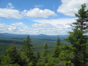 Blues skies and clouds over the Central Adirondacks