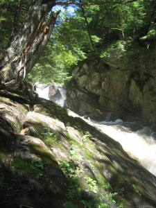 Auger falls and the rocky shores of the Sacandaga River