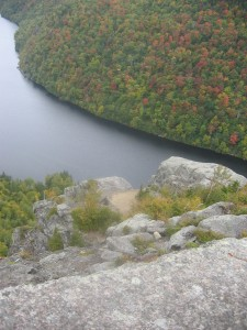 Ausable Lake seen from Fish Hawk cliffs