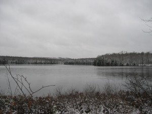 Bear Lake in the West-Central Region of the Adirondacks in winter