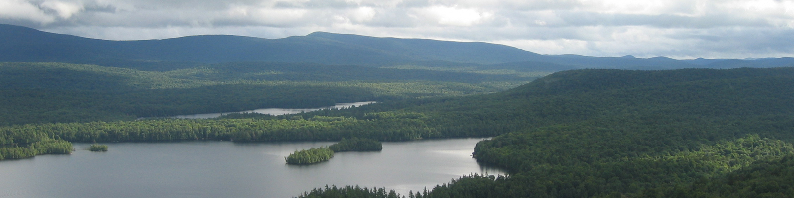 View of Blue Mountain Lake from atop Castle Rock