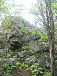 Rock formation beside the trail