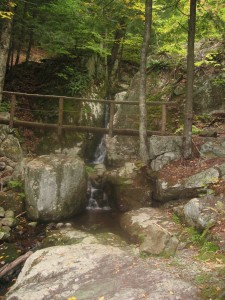 First waterfall encountered along Ausable River - West River Trail