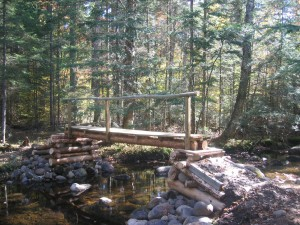 Log bridge across the Hoffman Notch brook