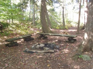 Informal Campsite along the trail
