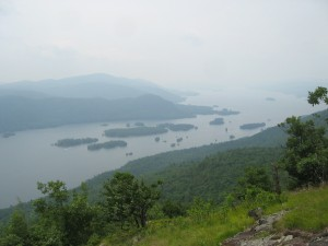 Lake George Islands as seen from the Tongue Mountain Range