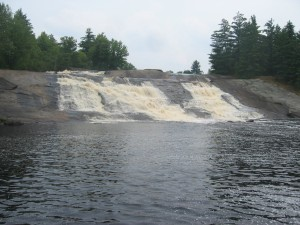 Lampson Falls along the gras river in the northern Adirondacks