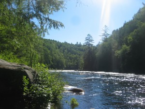 Hudson River flowing through the Adirondack forest
