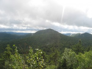 Looking North on the Central Adirondacks from the Top of Castle Rock