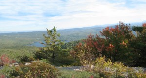 Panoramic view of Eastern Adirondacks with Pharaoh Lake.