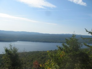 Piesco Lake seen from atop Panther Mountain