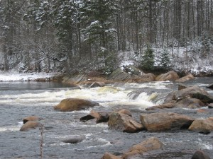 Remsen Falls along the Moose River in the West Central Region of the Adirondacks