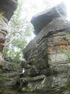 One of several Chimney rock formations found at the peak