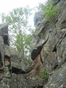 Rock formations at Chimney Mountain