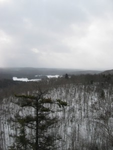 View of Southern Adirondacks from atop Good Luck Cliffs
