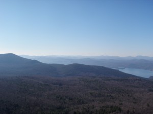 Looking South west with Lake George slowly disappearing