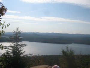 Piesco Lake from Echo Cliffs in the West Central Adirondacks