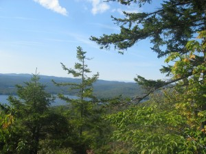 Piesco Lake from Echo Cliffs in the West Central ADKs