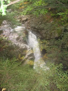 Surging waterfall beside the Ausable River: East River Trail