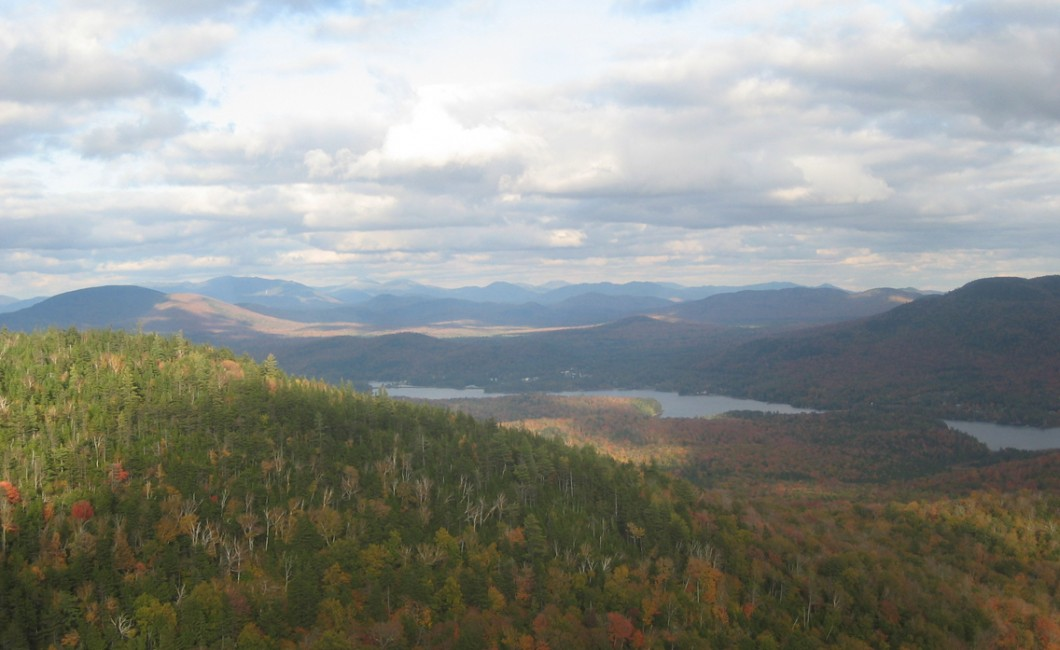 Northern Adirondacks in fall with leaves in full color
