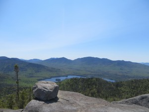 Adirondack High Peaks seen from atop Ampersand Mountain