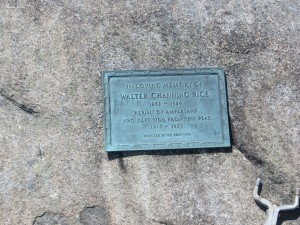 Bronze plaque for the hermit of Ampersand Mountain