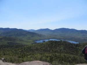 High peaks wilderness seen from mountain top