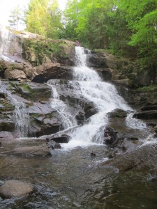 Tall waterfall in the Eastern Adirondacks